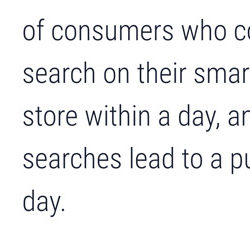 mobile search predictor store visits purchases